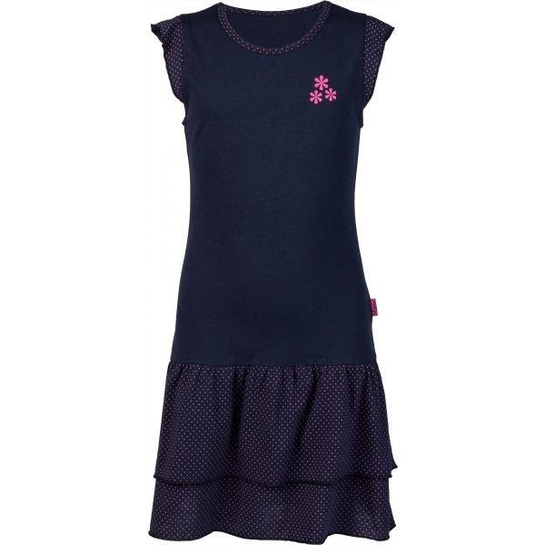 Modré dívčí šaty Lewro