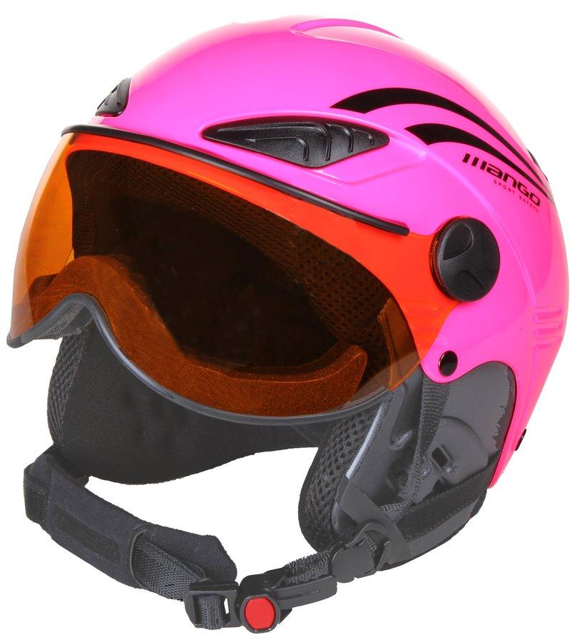 Růžová dívčí lyžařská helma Rocky PRO, Mango - velikost 53-55 cm