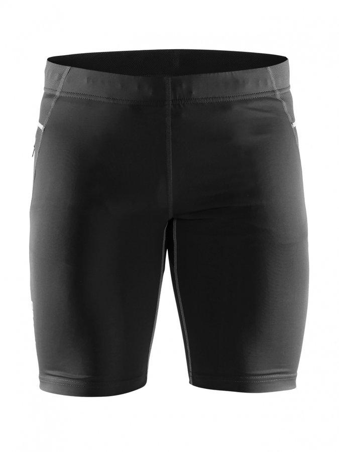 Černé fitness pánské běžecké kraťasy Craft - velikost XL