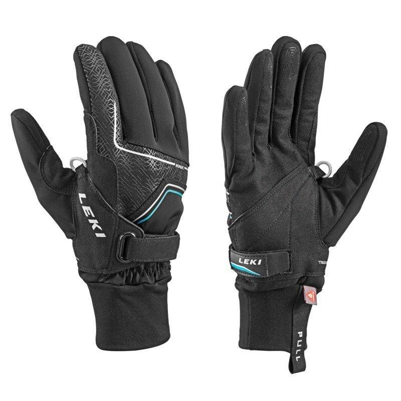 Černé rukavice na běžky Leki - velikost 10