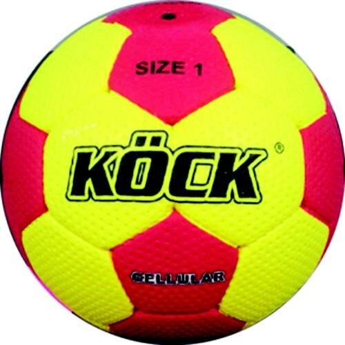Červeno-žlutý míč na házenou Super Grip, Köck Sport - velikost 1
