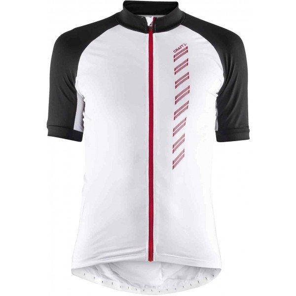 Bílo-černý pánský cyklistický dres Craft