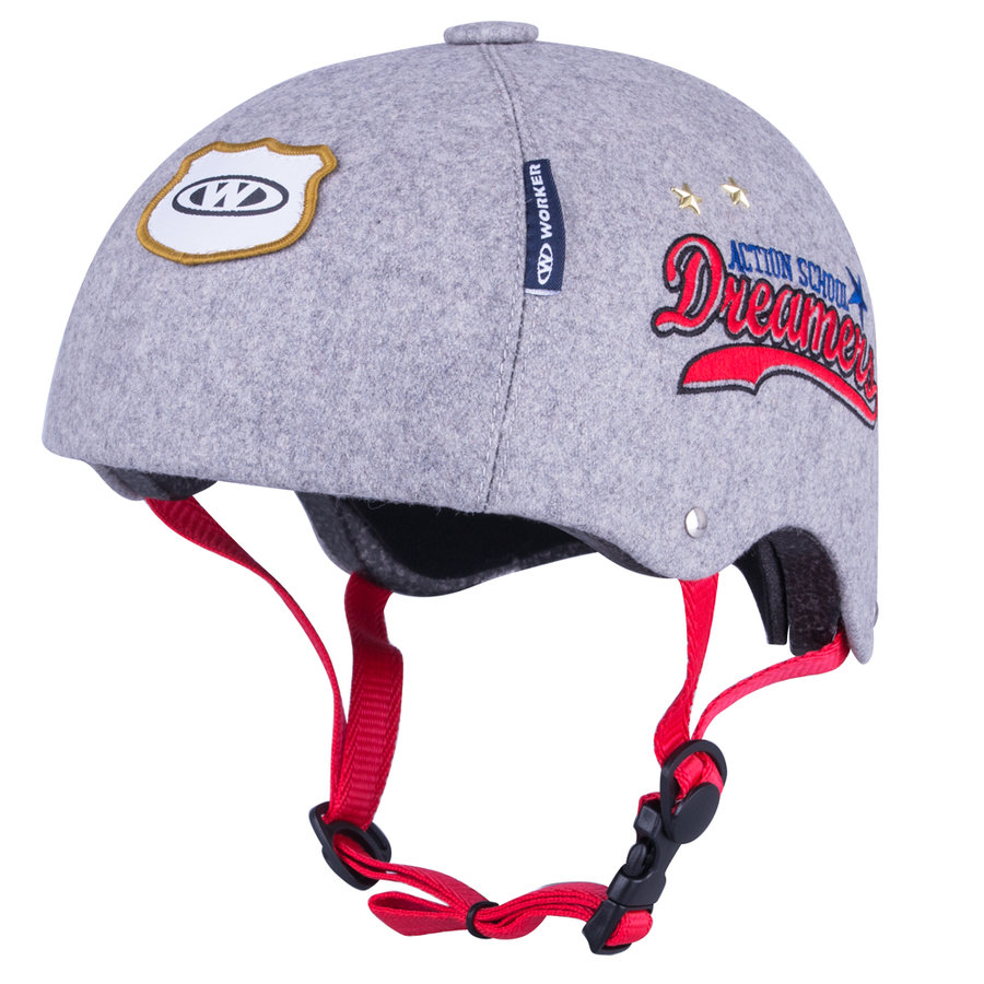 Šedá cyklistická helma Beis, Worker