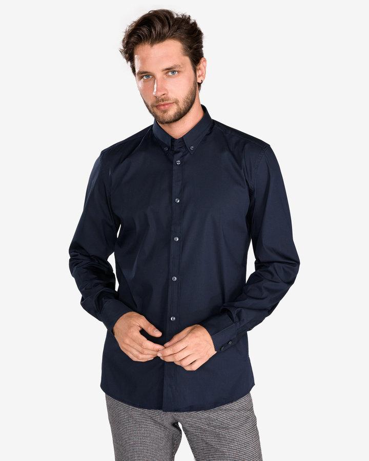 Modrá pánská košile s dlouhým rukávem Antony Morato - velikost L