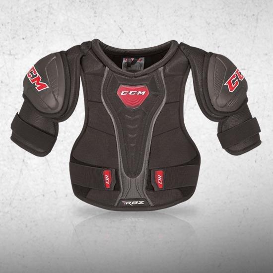 Černý hokejový chránič ramen - junior CCM - velikost S