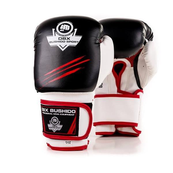 Bílo-černé boxerské rukavice BUSHIDO