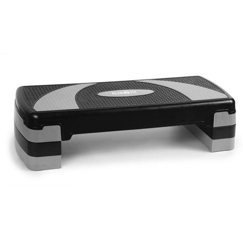 Černo-šedý aerobic step Klarfit