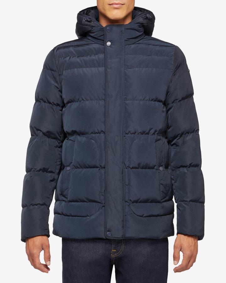 Modrá prošívaná zimní pánská bunda Geox - velikost L