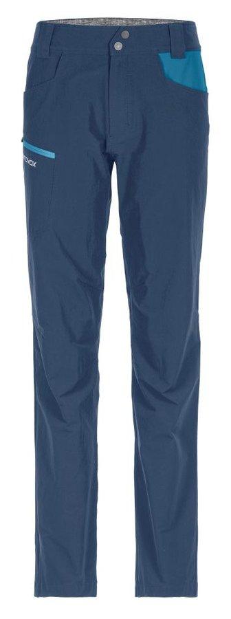 Modré softshellové dámské turistické kalhoty Ortovox