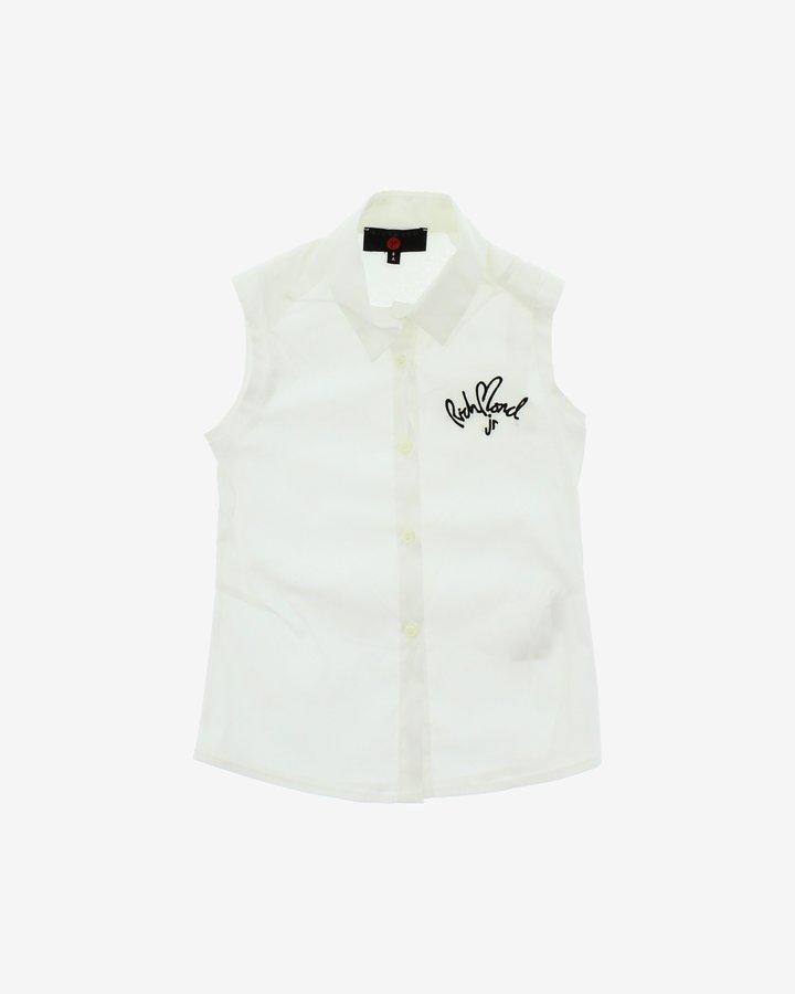 Bílá dívčí košile s krátkým rukávem John Richmond - velikost 116