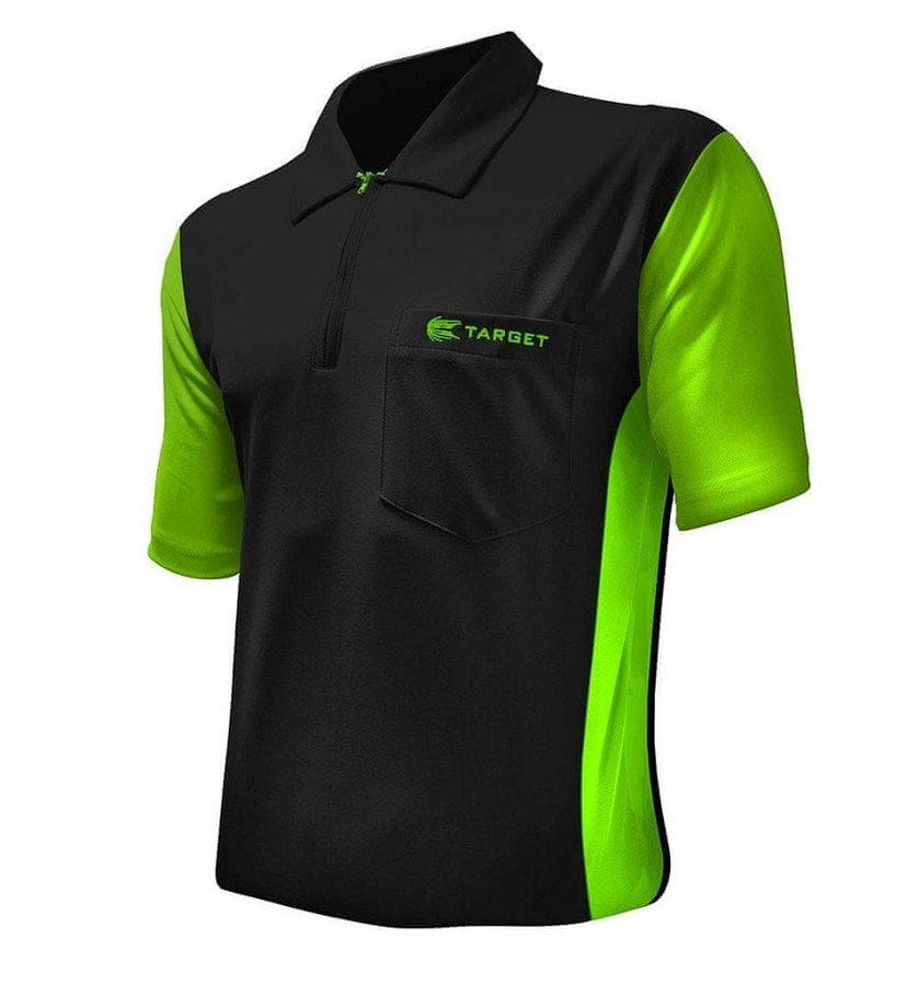 Černo-zelený šipkařský dres Target Darts - velikost XL
