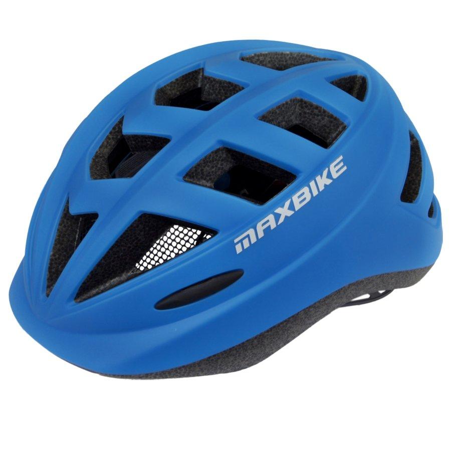 Modrá dětská cyklistická helma Maxbike - velikost 52-56 cm