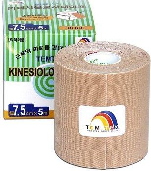 Béžová tejpovací páska TEMTEX - délka 5 m a šířka 7,5 cm