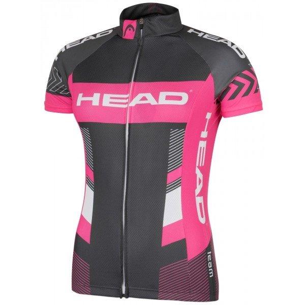Růžovo-šedý dámský cyklistický dres Head