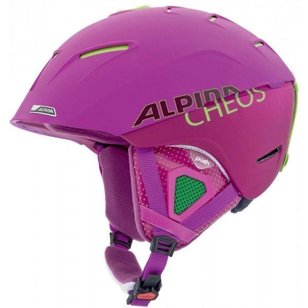 Fialová dámská lyžařská helma Alpina