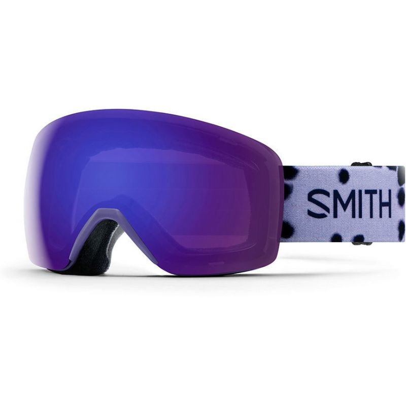 Bílé brýle na snowboard Smith