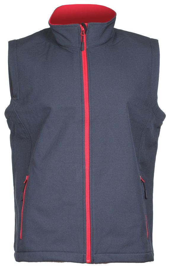 Šedá softshellová pánská vesta James & Nicholson - velikost S