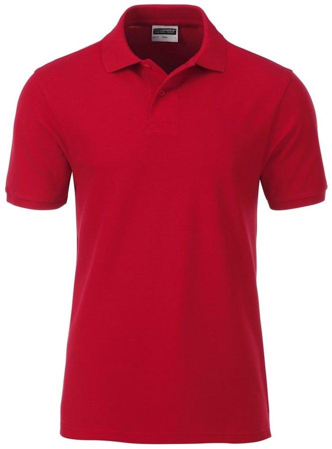 Červená pánská polokošile s krátkým rukávem James & Nicholson - velikost S