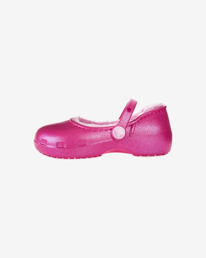 Růžové baleríny Crocs