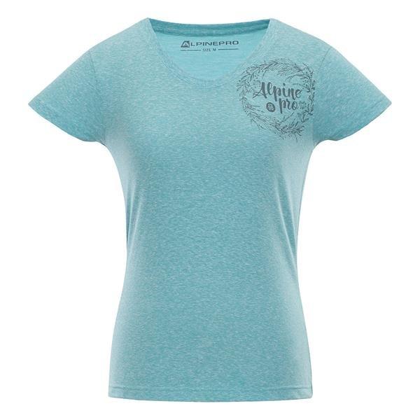 Tyrkysové dámské tričko s krátkým rukávem Alpine Pro