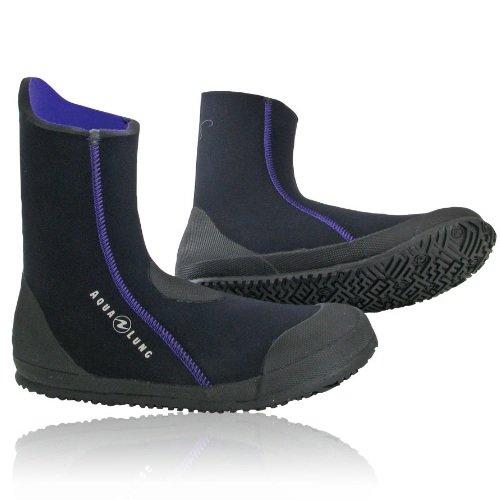 Černo-šedé pánské nebo dámské neoprenové boty - obuv Ellie Boot, Aqualung - tloušťka 5 mm
