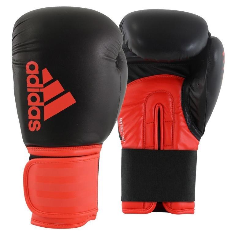 Černo-červené boxerské rukavice Adidas