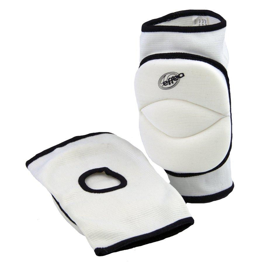 Bílé volejbalové chrániče - junior na kolena Effea
