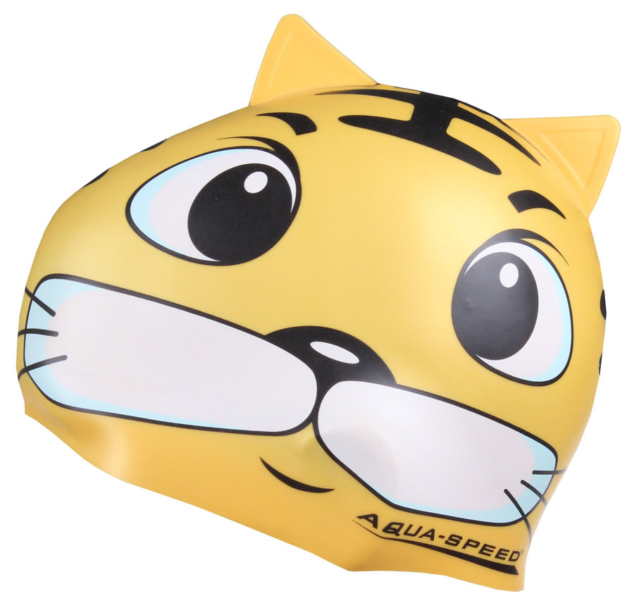 Žlutá dětská chlapecká nebo dívčí plavecká čepice ZOO, Aqua-Speed