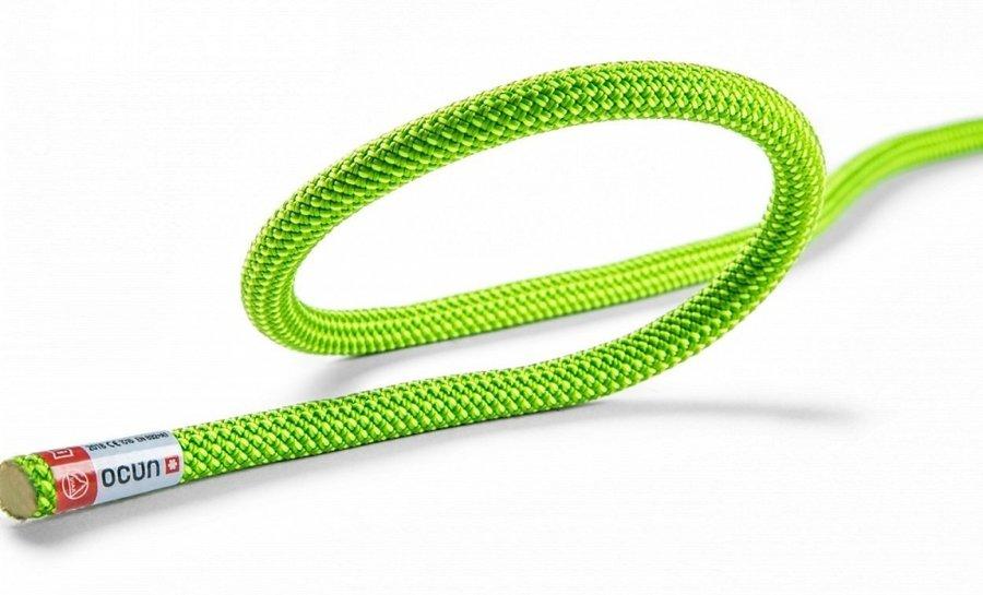 Zelené horolezecké lano Ocún - průměr 9,5 mm