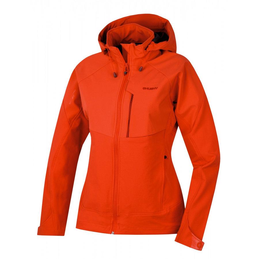 Červená softshellová dámská bunda Husky
