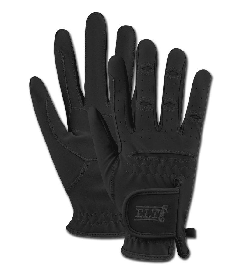 Černé jezdecké rukavice ELT