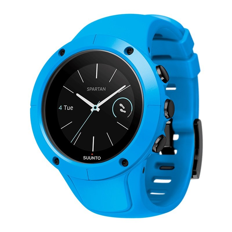 Modré sportovní analogové chytré hodinky Spartan Trainer Wrist HR, Spartan