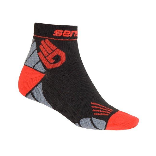 Černé vysoké pánské běžecké ponožky Marathon, Sensor