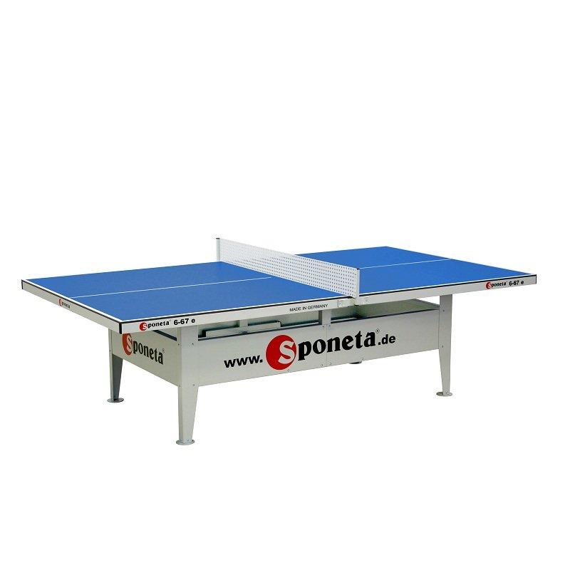 Modrý venkovní stůl na stolní tenis S6-67e, Sponeta