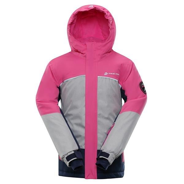 Růžová zimní dívčí bunda s kapucí Alpine Pro - velikost 104-110