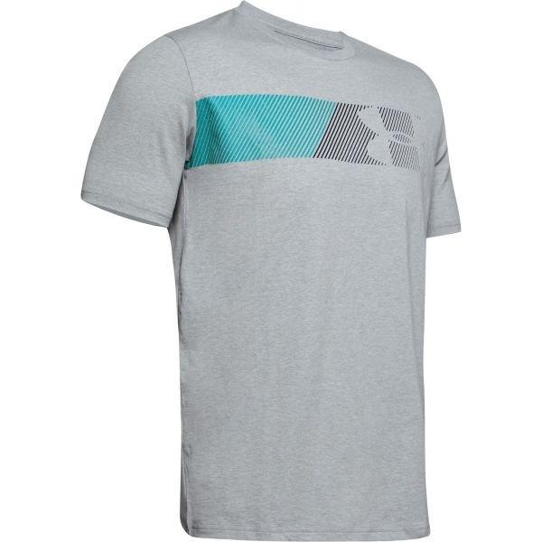 Šedé pánské tričko s krátkým rukávem Under Armour - velikost S