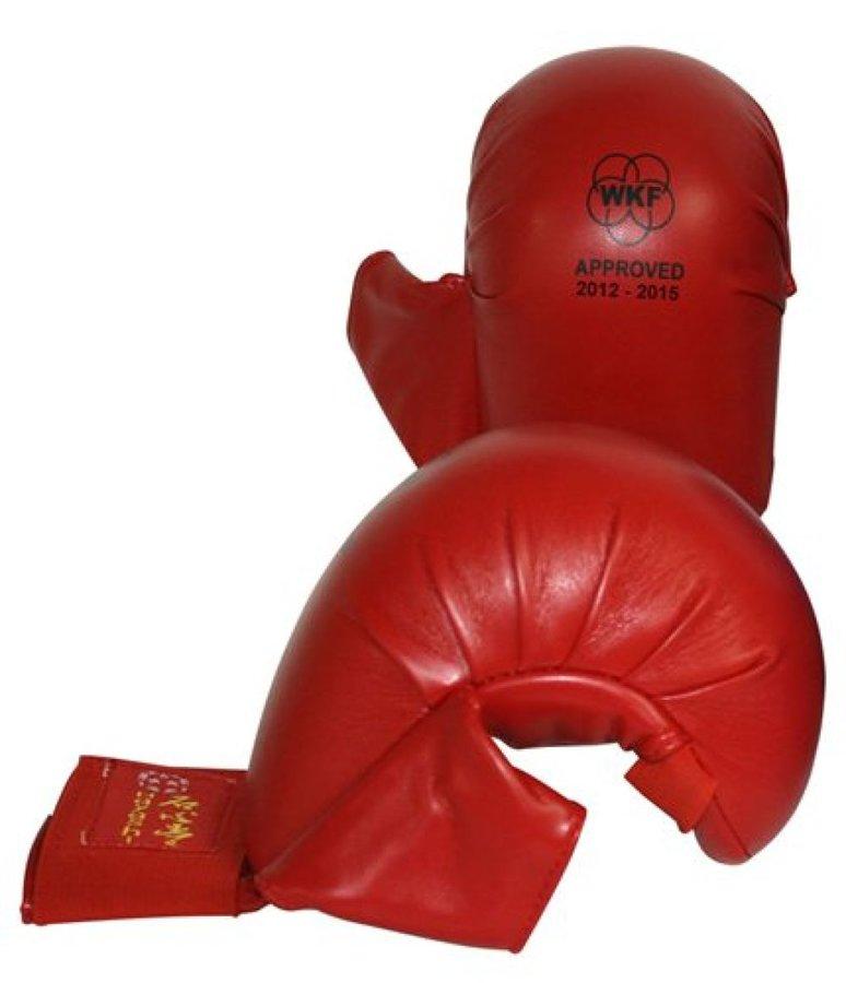 Karate rukavice - Hayashi karate chrániče WKF - Tsuki - červená - červená - velikost S