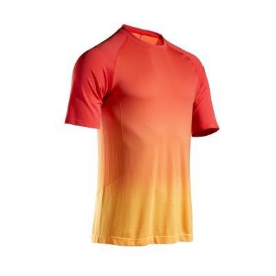 Červeno-žluté pánské běžecké tričko Kalenji