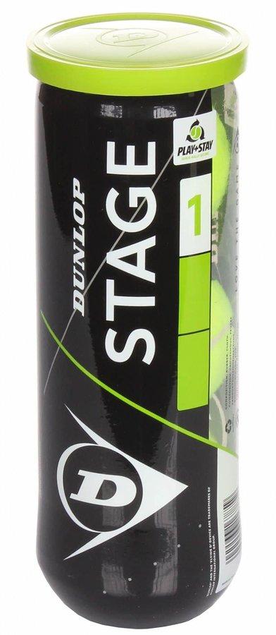 Tenisový míček - Stage 1 Green Mini tenisové míče, středně tvrdé, 3 ks balení: 3 ks