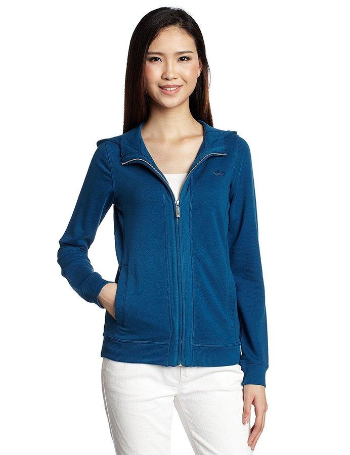 Modrá dámská mikina Adidas - velikost M