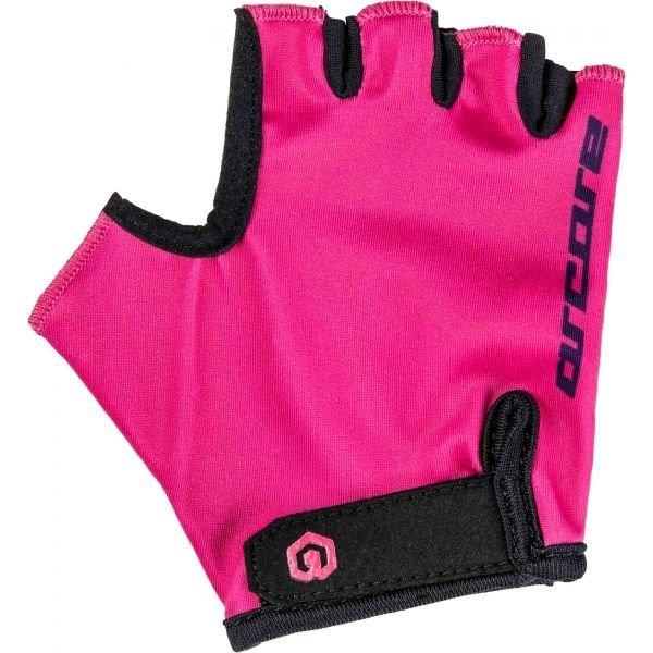 Černo-růžové dívčí cyklistické rukavice Arcore