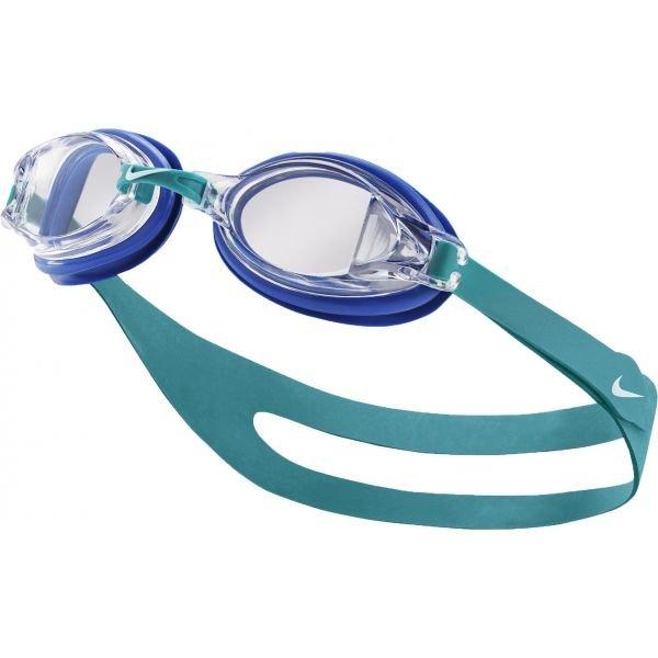 Modré závodní plavecké brýle Nike