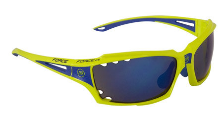 Modré cyklistické brýle Vision, Force