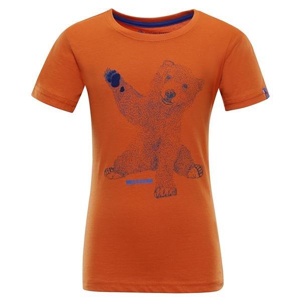 Oranžové turistické tričko s krátkým rukávem Alpine Pro - velikost 92-98