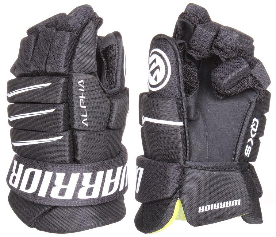 """Černé hokejové rukavice Alpha QX5, Warrior - velikost 12"""""""