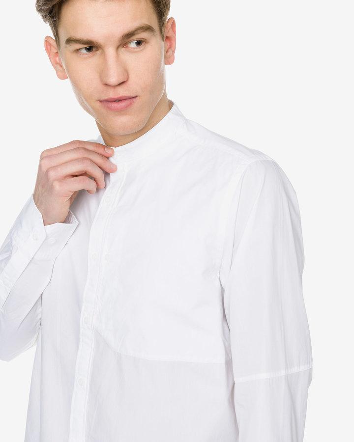 Bílá pánská košile s dlouhým rukávem G-Star RAW - velikost M