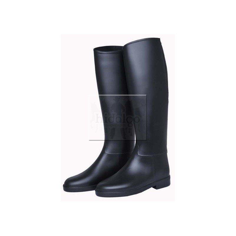 Černé PVC vysoké unisex jezdecké boty HKM