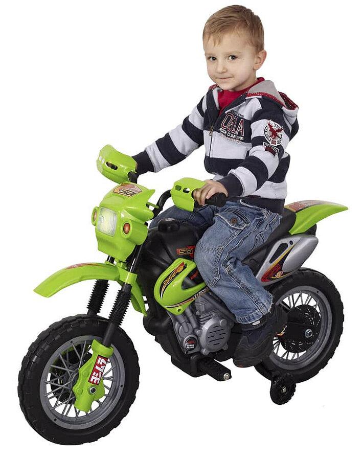 Černo-žlutá dětská elektrická motorka Enduro, Kids World
