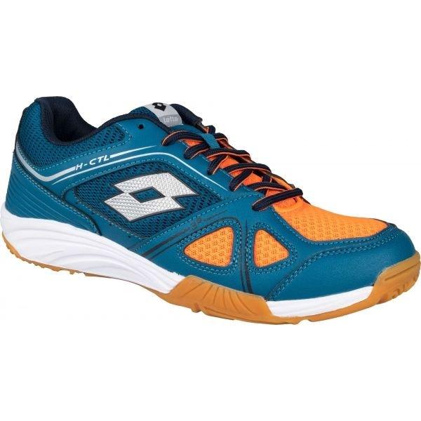 Modro-oranžové pánské boty na volejbal Lotto