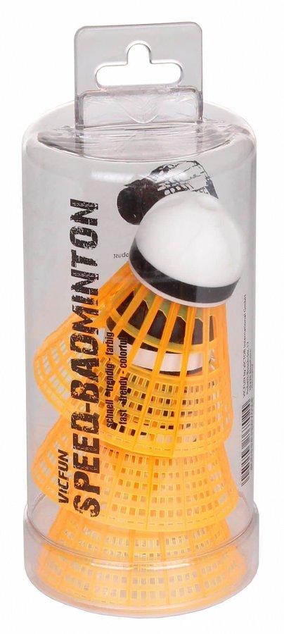 Oranžový speedmintonový míček VicFun - 3 ks